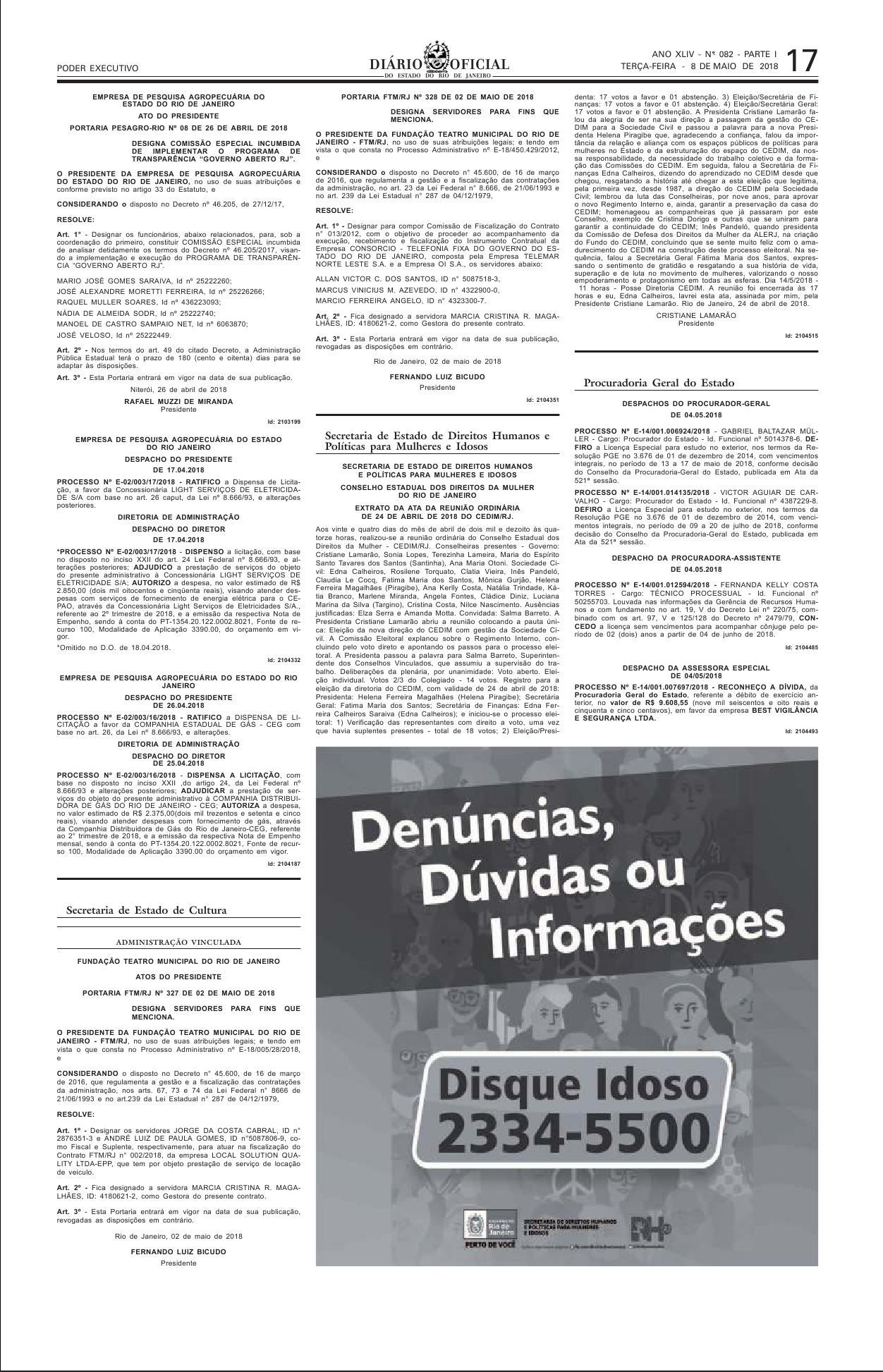 PUBLICAÇÃO DA ATA DE ELEIÇÂO DA SOCIEDADE CIVIL PARA A DIREÇÂO DO CEDIM-RJ 5f3c871d52cf6
